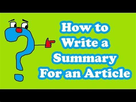 Writing a summary of an essay